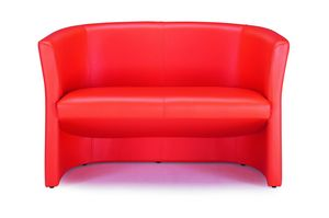 Duke 142, Sofa for waiting areas, covered with leather