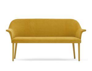 Grace 03451 - 03452, Sofa in foam, seat with belts, with legs
