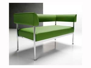 Jive 2p, Modern sofa 2 places, for contract use and office