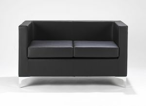 Kocka 164 165, Sofa for reception, with black or white upholstery