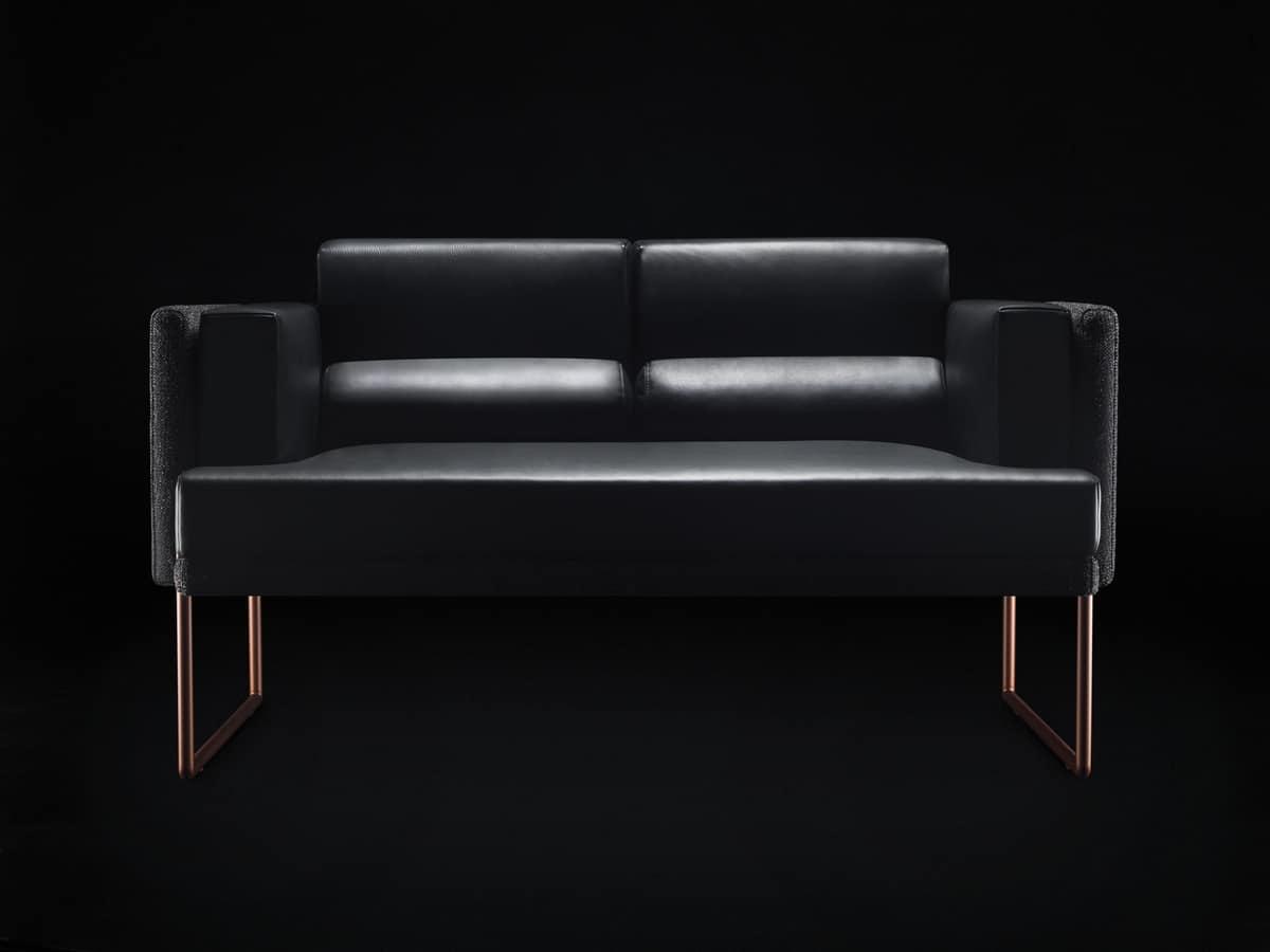 Quid Sofa, Sofa With A Minimal Design, Metal Legs
