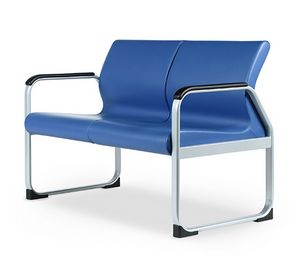 SEDOFF ONE 402 A, Sofa with metal base, ideal for waiting rooms