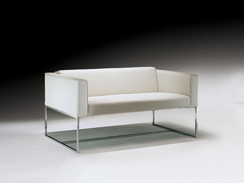 Sofa With Square Tubular In Steel For Waiting Room Idfdesign