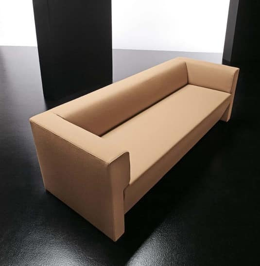 Modern simple sofa 3 seats, with wooden frame | IDFdesign