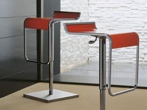 Ship SG CU, Linear metal barstool with footrest, for bars