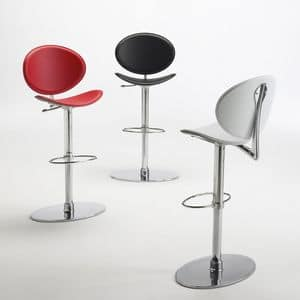 Picture of tamago leather stool, minimal barstools