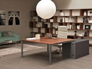 Asterisco In direzionale, Desks in metal and wood, ideal for executive offices