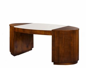 Hector desk, Desk with leather top