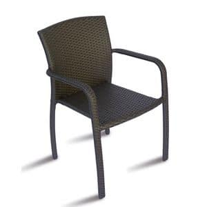 CHW50, Armchair with woven wicker, for outdoors