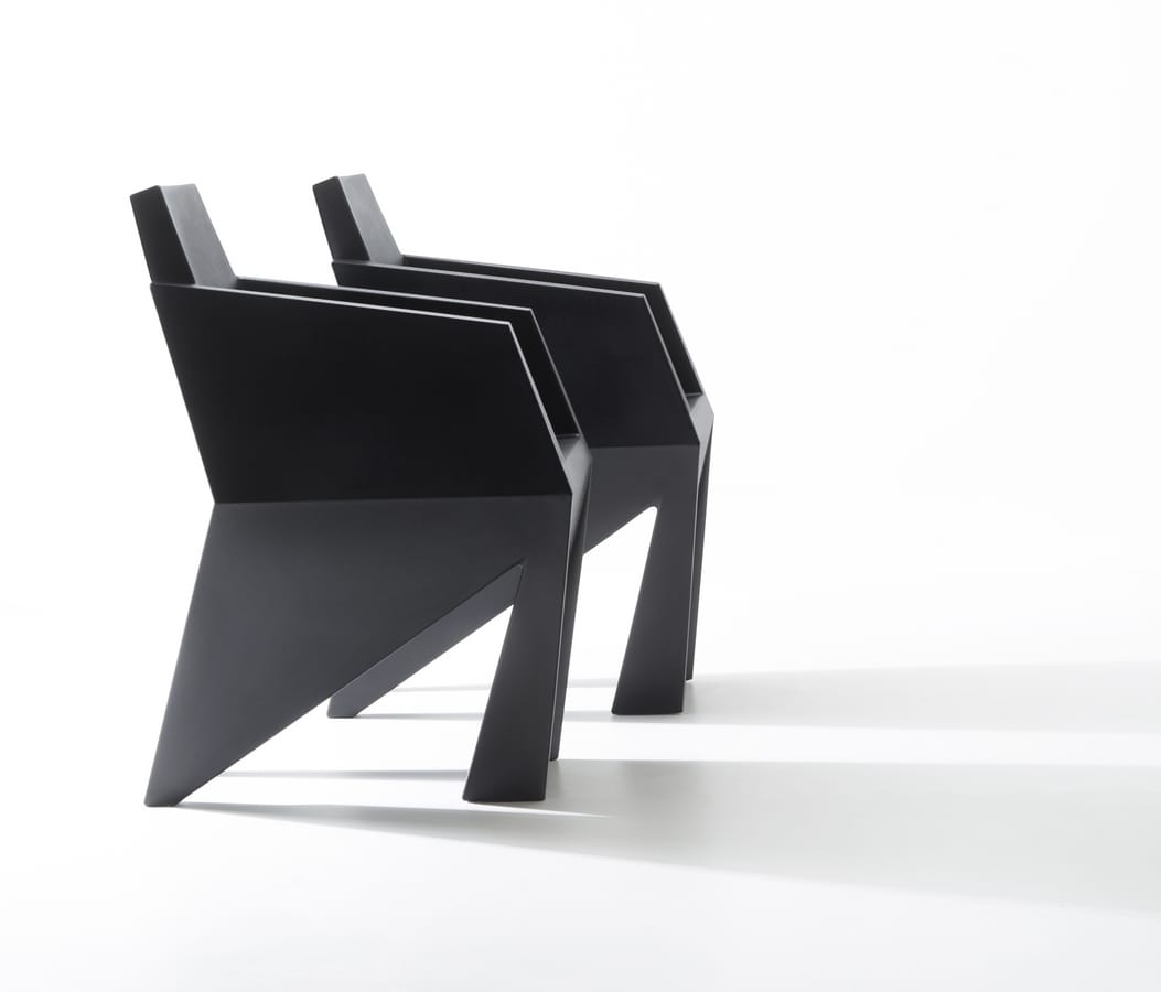 Gemma, Monolithic small armchair, also suitable for outdoor use