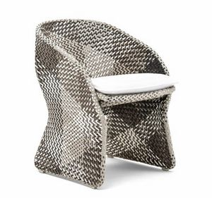 Maat armchair, Braided armchair for outdoor