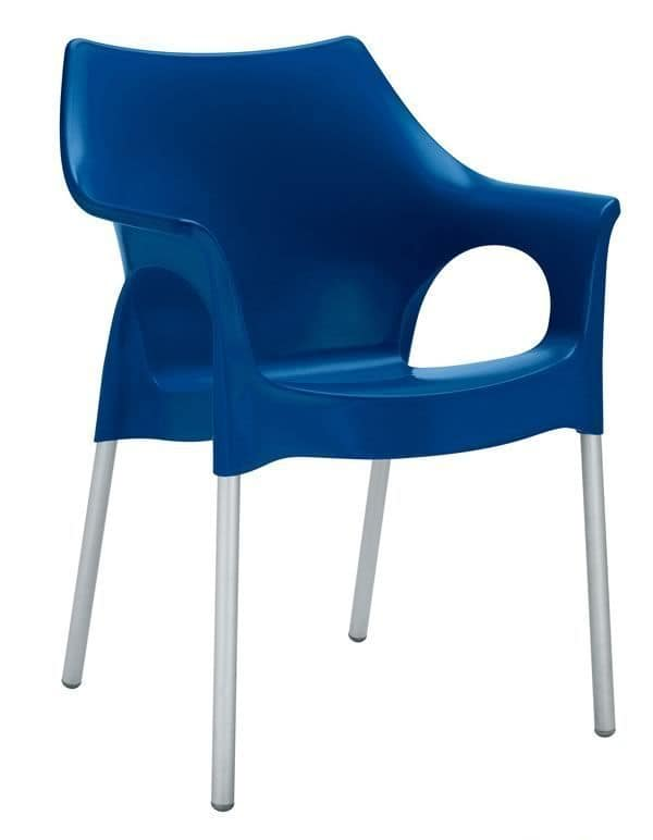 Ola, Armchair for indoor or outdoor use, stackable