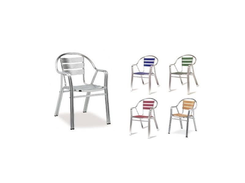 PL 414, Resistant aluminum chairs, for ice cream shop