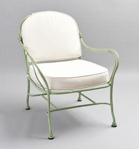 BAMBOO GF4012AR, Outdoor wrought iron armchair