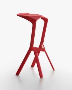 Miura I Stool 8200-00, High design barstool in polypropylene, for outdoors