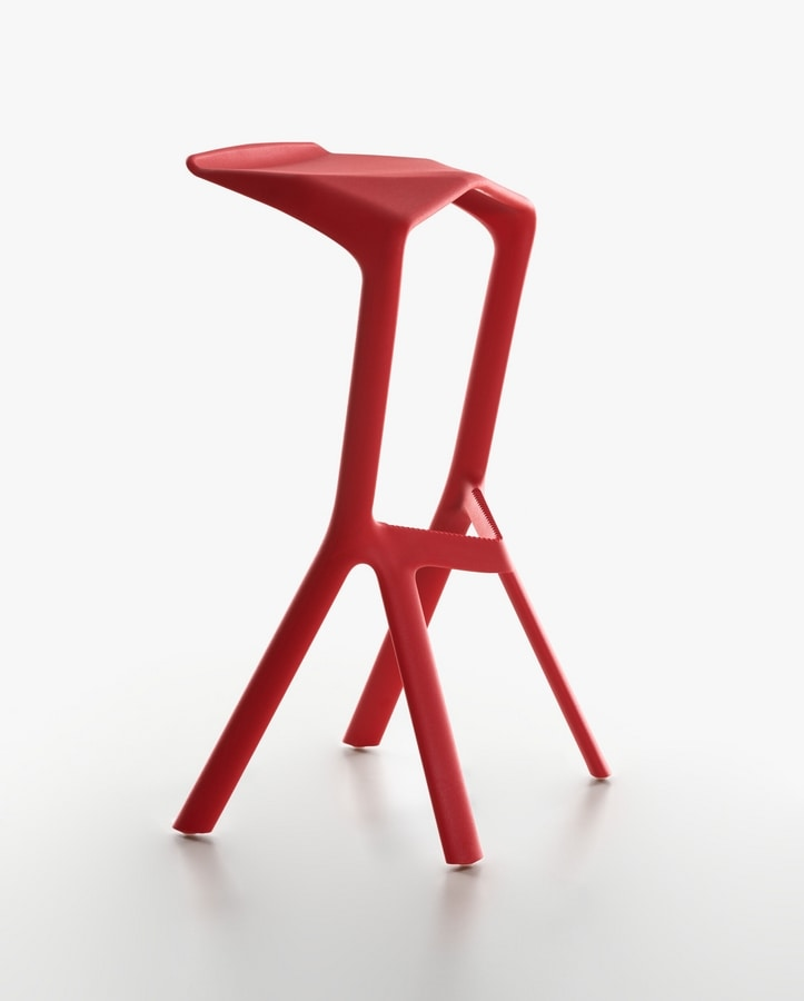 High Design Barstool In Polypropylene For Outdoors