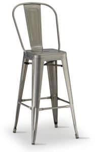 SG 503 / EST, Stackable stool in galvanized metal, for outdoor