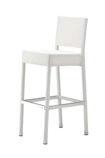 SG 711, Resistant stool, woven, with backrest, for hotel