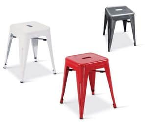 SG 502, Low metal stool suited for contract