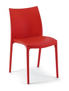064, Polypropylene chair, suitable for ice-cream shops and gardens