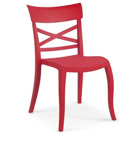 1719, Chair completely in polypropylene for outdoor bar