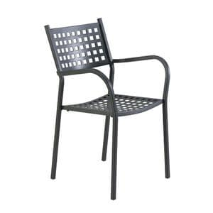 2044, Chair in galvanized iron, in various colors, for garden