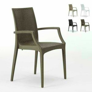 Bar chair with armrests garden � S6625, Chair with armrests, stackable, economic, for bars