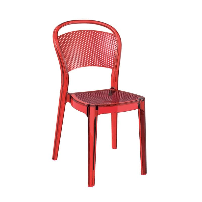 Plastic chair stackable scratch resistant pizzeria