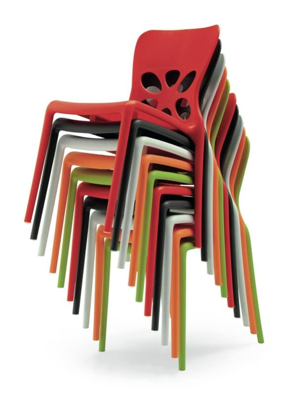 Stackable Outdoor Chair Perforated Back Idfdesign