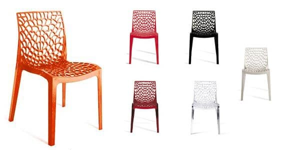 Beautiful Gruvyer, Polycarbonate Chair, Injection Molded, For Outdoors