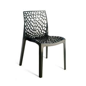 Gruvyer, Polycarbonate chair, injection molded, for outdoors