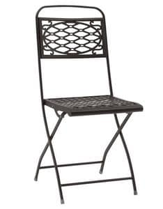 Isa, Folding steel chair, several colours, for garden