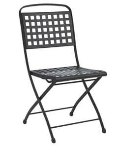 Isabella, Folding steel chair, for garden