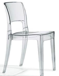 Isy Antishock, Polycarbonate design chair, stackable, several colours