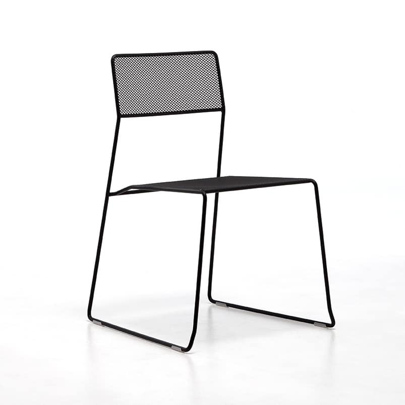 Nice Log Mesh, Metal Chair, Stackable And Easy To Transport, Suitable For  Outdoor Use