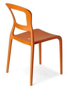 Pepper, Technopolymer coloured chair, stackable, also for garden