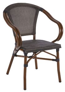 PL 421, Outdoor woven chair with curved armrests