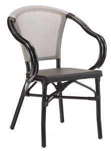 PL 422, Stackable outdoor chair with curved armrests