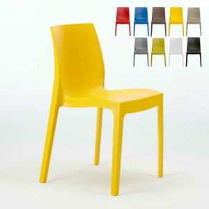 Stackable kitchen bar chair Rome � S6217, Plastic chair, economic, for indoor and outdoor