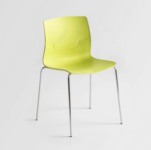 Slot NA, Chair with chromed metal legs, shell in polymer