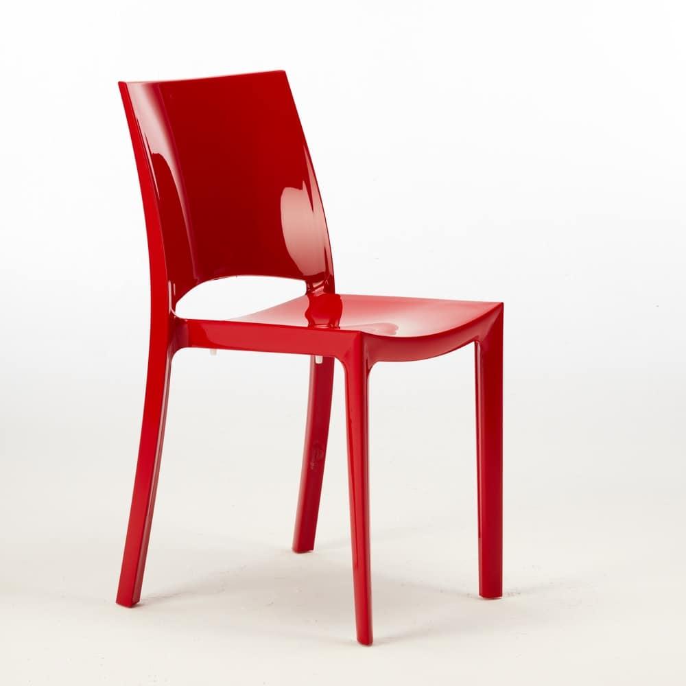 Stackable Polypropylene Chair Sunshine   S6215, Stackable Chair In  Polypropylene, Certified, For Outdoor