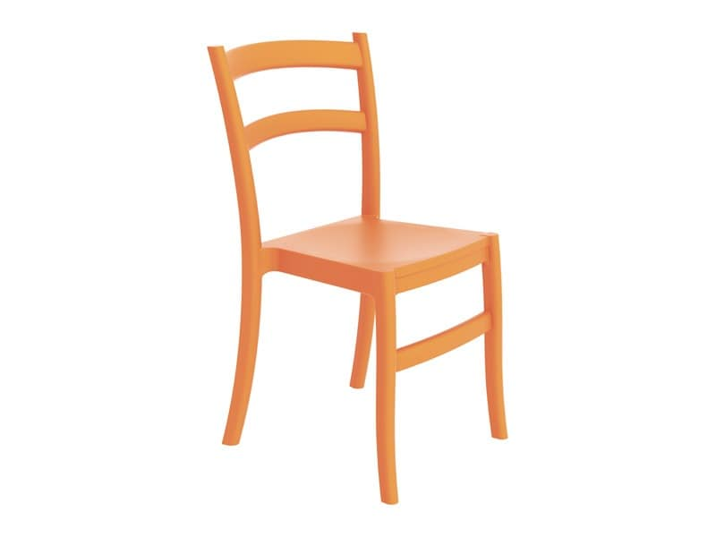 Plastic chair in different colors for outdoor bar for Different color chairs