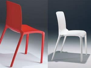 Picture of Tiffany nylon chair, dining chairs with plastic seat