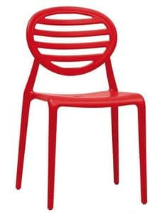 Top Gio, Stackable chair in technopolymer, also for garden