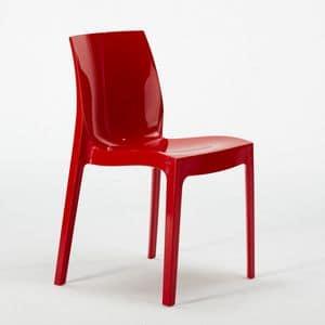 Transparent polycarbonate chair kitchen bar Femme Fatale � S6317, Plastic chair, stackable, economic