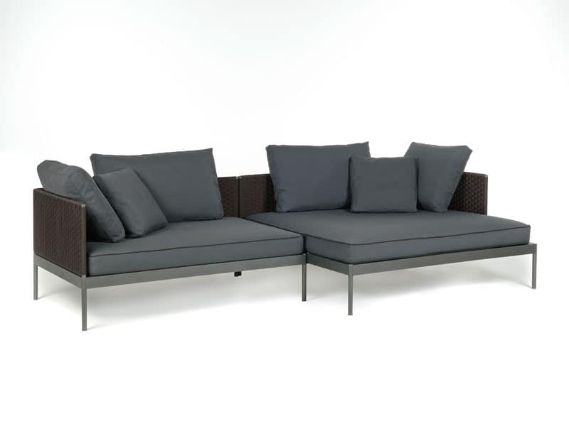 Picture of Basket 353 module 135x90 + Basket 354 module 135x135, outdoor sofa
