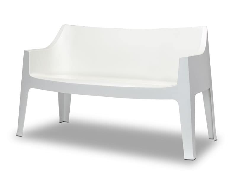 Stable and comfortable sofa in propylene for outdoor use for Sofa exterior pvc