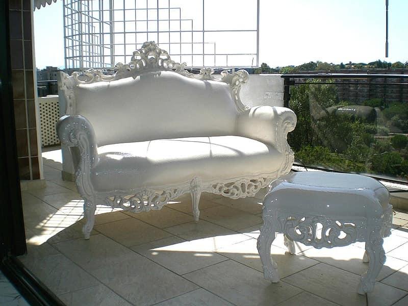 Outdoor baroque sofa waterproof sofa soft outdoor sofa for Plastic baroque furniture