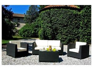 Picture of Maros D black, garden loveseats