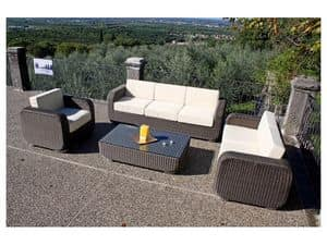 Picture of Sambo D3p bronze, garden loveseat